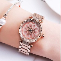 Rotating hollow Women Watches Women Fashion Watch Geneva Designer Ladies Watch Luxury Diamond Quartz Wrist Watch Gifts Women