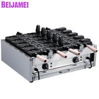 BEIJAMEI food equipment electric taiyaki fish waffle maker 110v 220v commercial taiyaki fish open mouth waffle machine