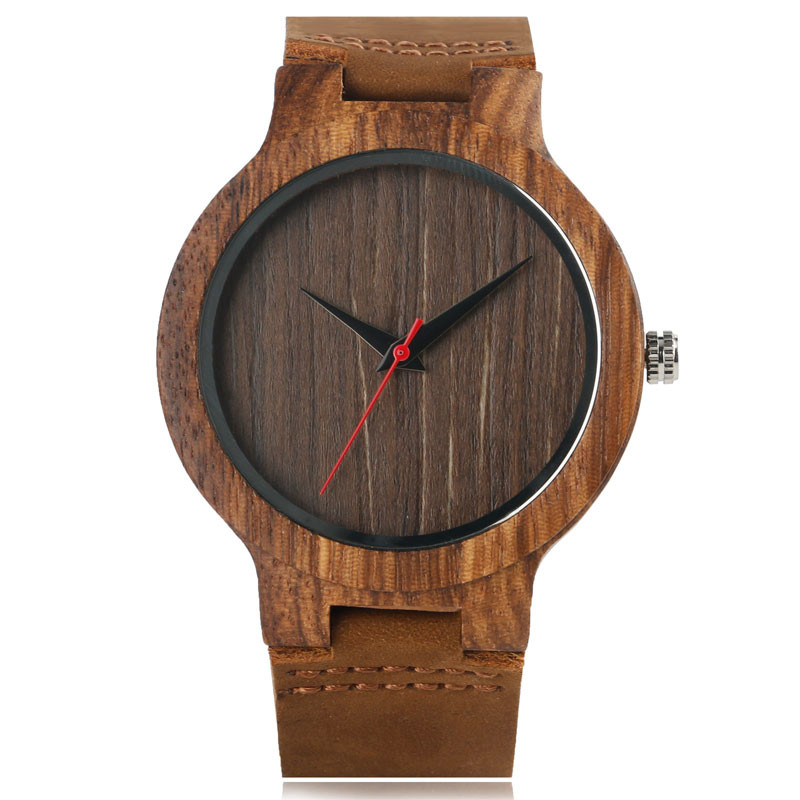 2017 New Arrival Unique Hand-made Natural Wood Watches with Geunine Leather Watchband Gift for Men Women Relojes de madera