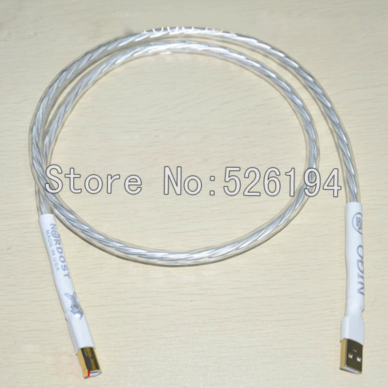 Free shipping Nordost Odin interconnect USB cable with A to B plated gold connection USB audio digital cable цена и фото
