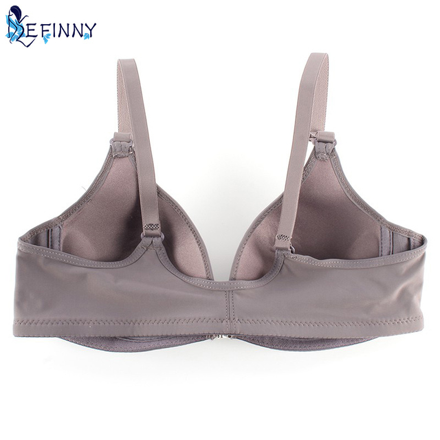 Smooth Front Closure Thin Padded Racerback Seamless Push Up Bra