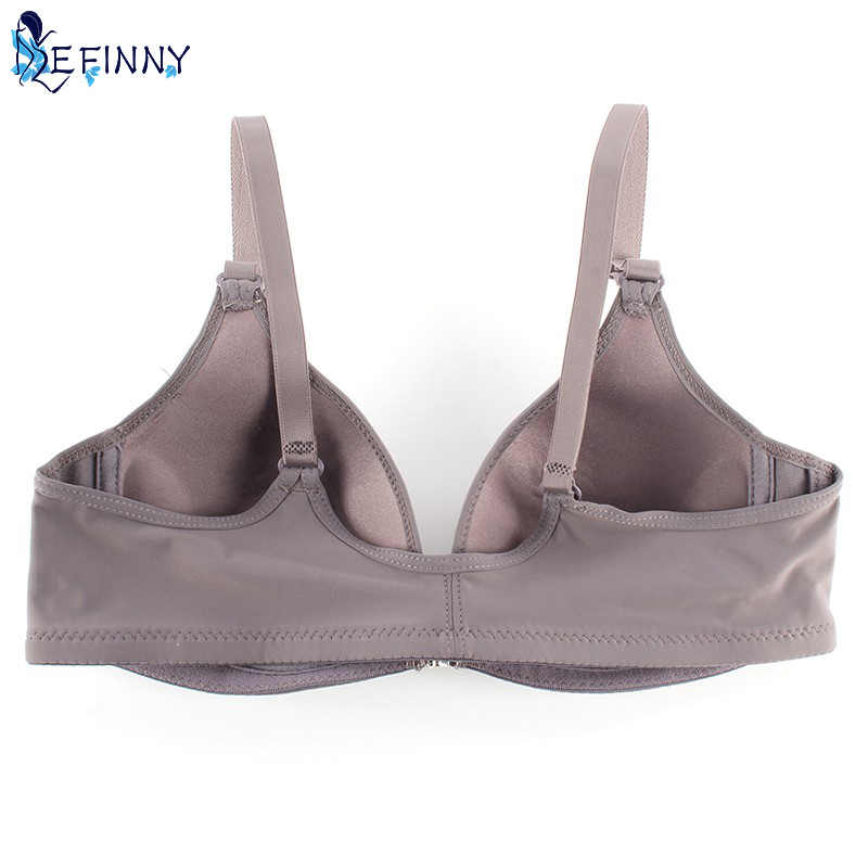 a2354c67c461b ... Sexy Women Smooth Front Closure Thin Padded Racerback Seamless Push Up  Bra Top Only Cup B ...