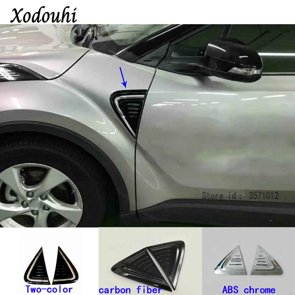 4PCS carbon fiber Inner Power window Switch Cover Trim For Toyota C-HR CHR 17-18