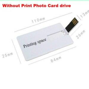 Image 2 - Diy criativo usb 2.0 flash cartão de crédito 16 gb 32 gb usb pen drive pen drive 4 gb 8 gb imprimir sua foto ou logotipo personalizado da empresa presente