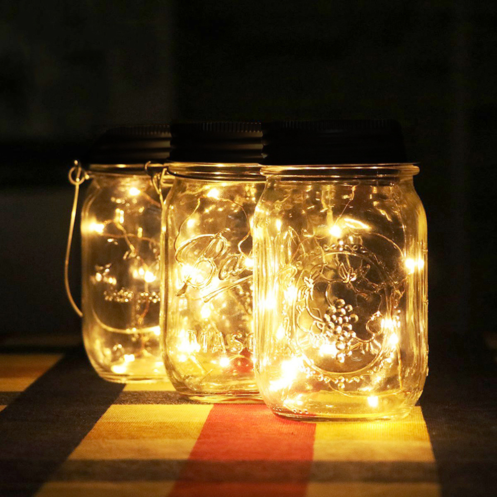 3X Mason Jar Lid Insert Fairy Light for Glass Mason Jars and Garden Christmas Decor LED String Lights AAA Battery Operated D30 in LED String from Lights Lighting