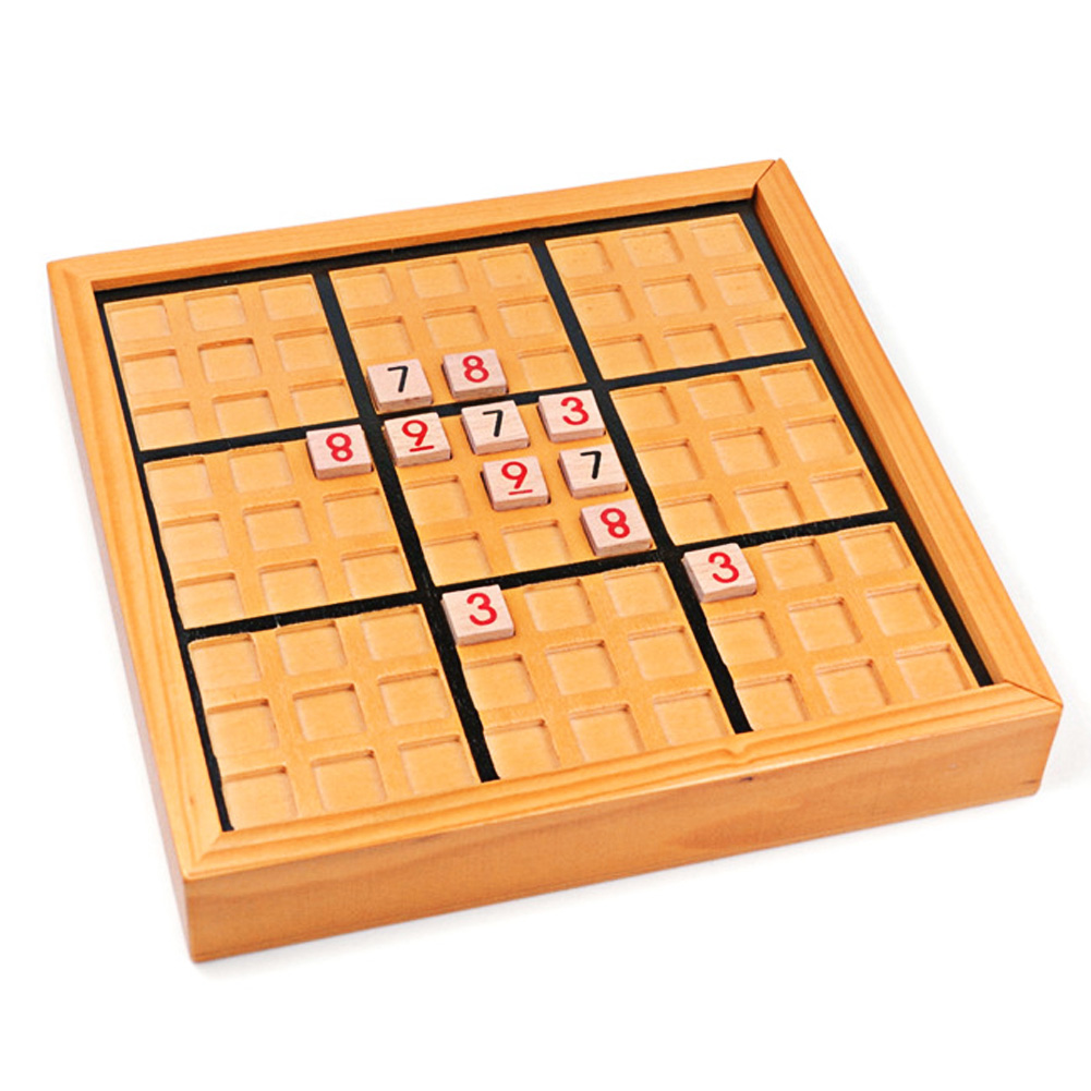 Sudoku Puzzle Juguetes de Madera Muy Lógica Número Rompecabezas Juego de Mesa Ju