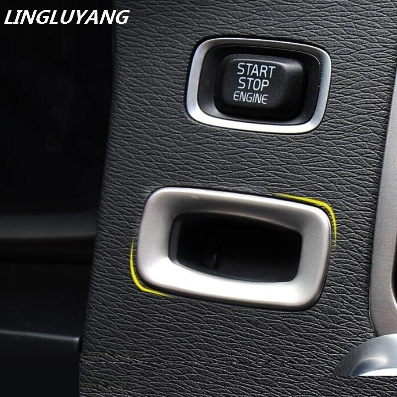 Khusus Mobil Interior lubang kunci panel penutup trim dekoratif stainless steel gantungan kunci 3D sticker untuk Volvo S60 V60