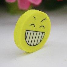 Ластики усмешки карандаша офисные забавные резина ластик малыша новинка милые школьные