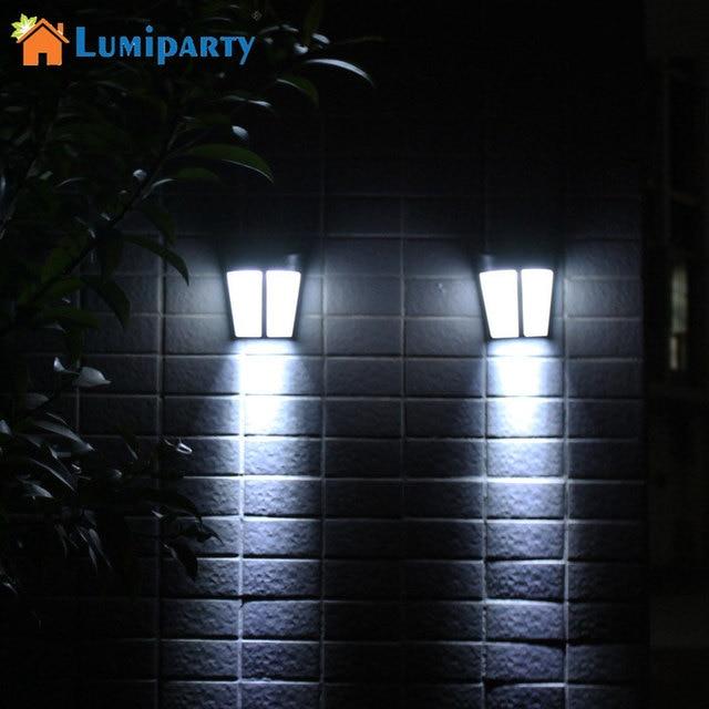 LumiParty Zonne energie Wandlamp Super Heldere Sensor Lamp Voor ...