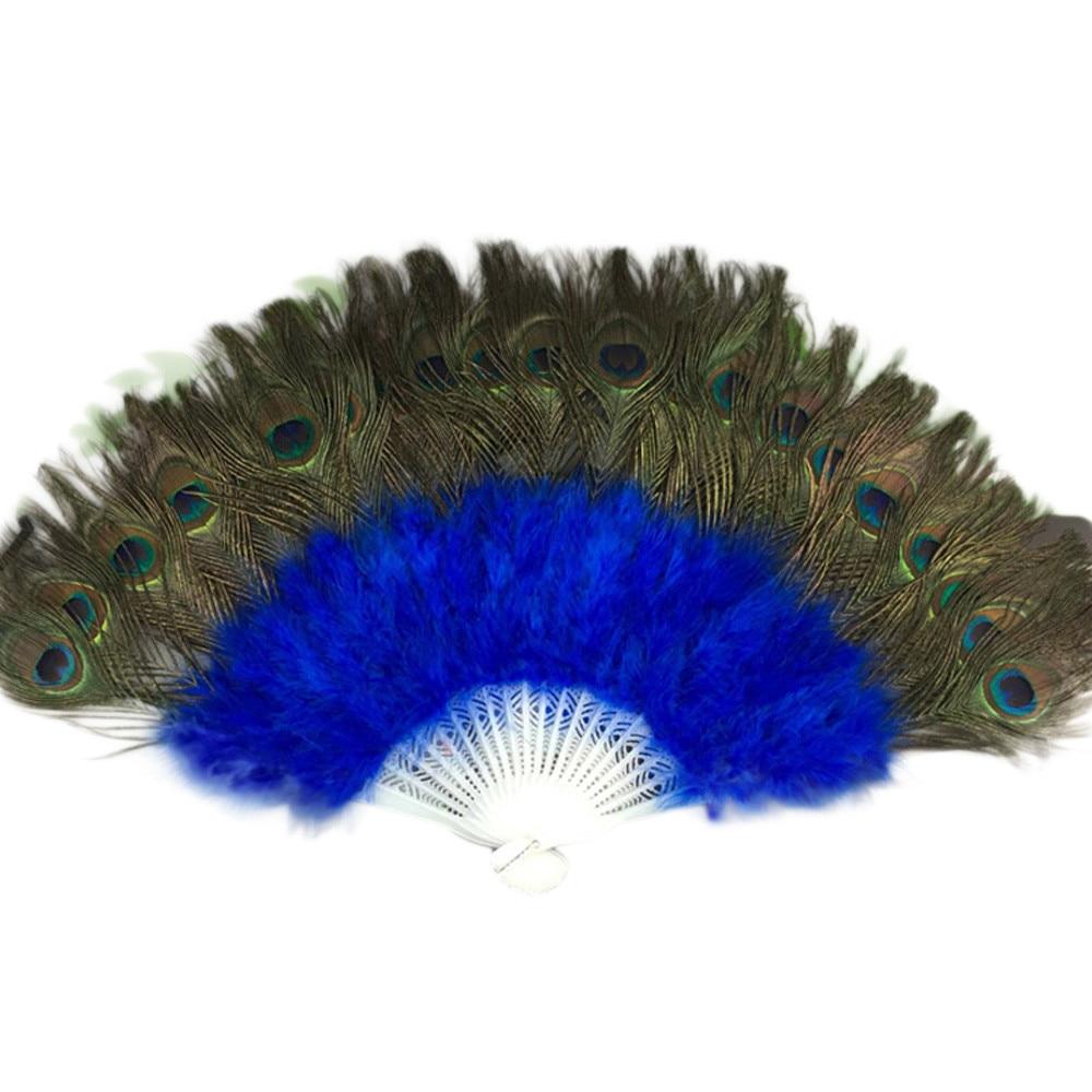 Wedding Showgirl Party Dance Elegant Large Decor Decal Feather Folding Hand Fan