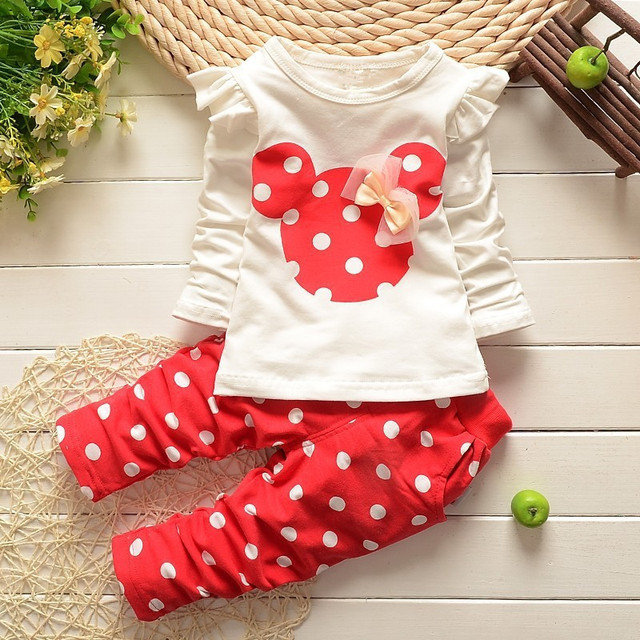 Bear Leader Baby Girls Clothes Casual Spring Baby Clothing Sets Cartoon Printing Sweatshirts+Casual Pants 2Pcs for Baby Clothes 5