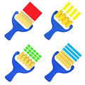 4Pcs/Set Sponge Roller Stamper Watercolor Oil Gouache Children Painting Brush
