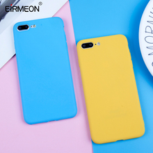 Candy Color Case For iPhone 7 8 6 6s Plus X 5 5s SE XR XS Max Simple Solid Ultra thin Soft TPU Phone Back Cover