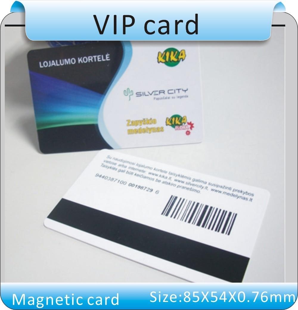 1000pcs Custom VIP Card Printing Membership Loyalty Cards Member Magnetic Strip Plastic Card+1 Pcs 2nd Track Reader
