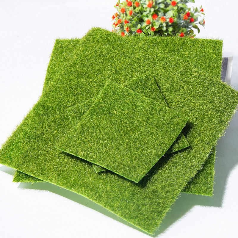30*30 Cm Giardino Artificiale Ecologico Decorativo Turf Moss in Miniatura Simulazione Prato Decor Cortile Artificiale Erba Verde