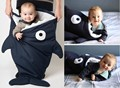 Promotion! Cartoon Shark baby sleeping bag baby kicking preventing bag best quality sleep bag baby carriage bag