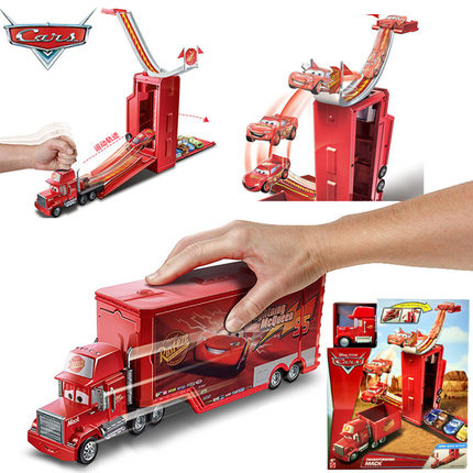 Racing car deformation uncle mike toy car deformation track set up McQueen movie boy gift box toy car DVF39