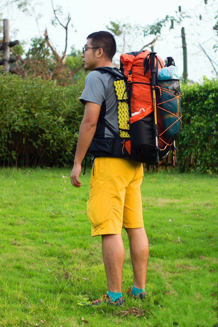 Water-resistant Hiking Backpack Backpacking Trekking Bag Lightweight Camping Travel Mountaineering Rucksacks 40+16L UL 80l outdoor backpack hiking trekking bag camping travel water resistant pack mountaineering climbing bags knapsack