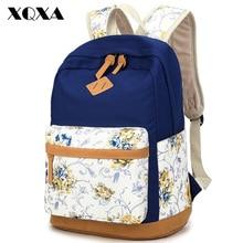 Xqxa Марка Качество Цветочный Сумки-холсты рюкзак школьный для подростка девочка ноутбук сумка Печать Рюкзак Для женщин рюкзак