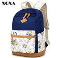 Xqxa qualidade da marca saco de lona floral mochila bolsa para laptop mochila impressão mulheres mochila escolar para a menina do adolescente