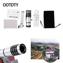 Promo offer OOTDTY Camera Lens Smartphones 12X Zoom Optical Telescope Camera Telephoto Lens + Tripod Set