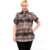 BFDADI 2016 Mulheres Da Moda Verão Clássico Das Mulheres da Manta Blusas Curtas manga Camisas Casual Turn Down Collar Tops Plus Size 6XL 3230