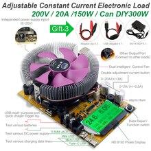 200V20A180W регулируемый постоянный ток электронная нагрузка батарея тестер usb dc 12V24V свинцово-кислотный литиевый разрядный измеритель емкости