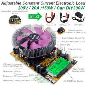 Image 2 - 200V20A150W Verstelbare Constante Stroom Elektronische Belasting Batterij Tester Usb Dc 12V24V Lood zuur Lithium Ontlading Capaciteit Meter