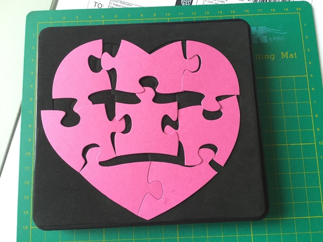 Jigsaw Puzzle shape scrapbooking cutting die 15.8mm thick all sizes available