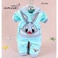 2016 весной и осенью детская одежда 0-5 летний мальчик девочка/мультфильм кролик/дизайн дети/две части/наборы мода
