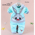2016 spring and autumn children's clothing 0-5 year old boy girl / cartoon rabbit / design children / two pieces / sets fashion