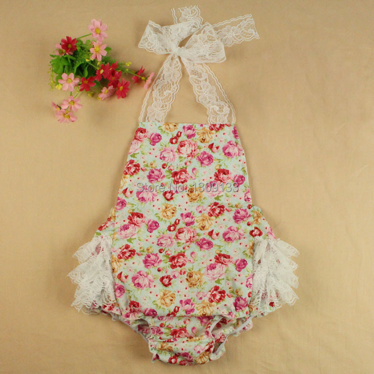 Begonia Flowers Floral Baby Girls Sunsuit Baby Bubble