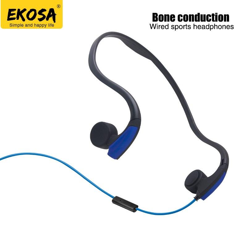 EKOSA Conduzione Ossea Cuffie Auricolari Neckband trasduttore auricolare Metallico auriculares fone de ouvido ecouteur casco cuffie auricolari