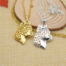 LPHZQH fashion cartoon Boho Chic American Staffordshire Terrier dog choker pendant Women necklace Jewelry Christmas gift punk