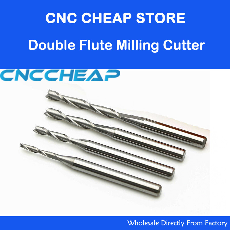 10pc 3.175mm 4mm SHK Wood cutter CNC Router Bits 2 Flutes Spiral End Mills Double Flute Milling Cutter Spiral PVC Cutter 3 175 12 acrylics pvc one flute spiral bits cnc router cutter