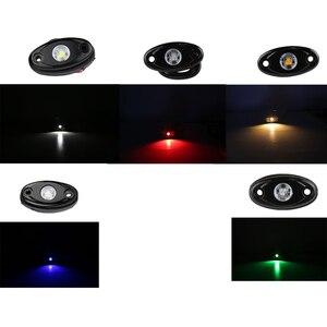 Image 3 - 4 ポッド RGB 防水装飾 Rock マルチカラーデッキ雰囲気ランプと Bluetooth 用のオフロードボートトラック