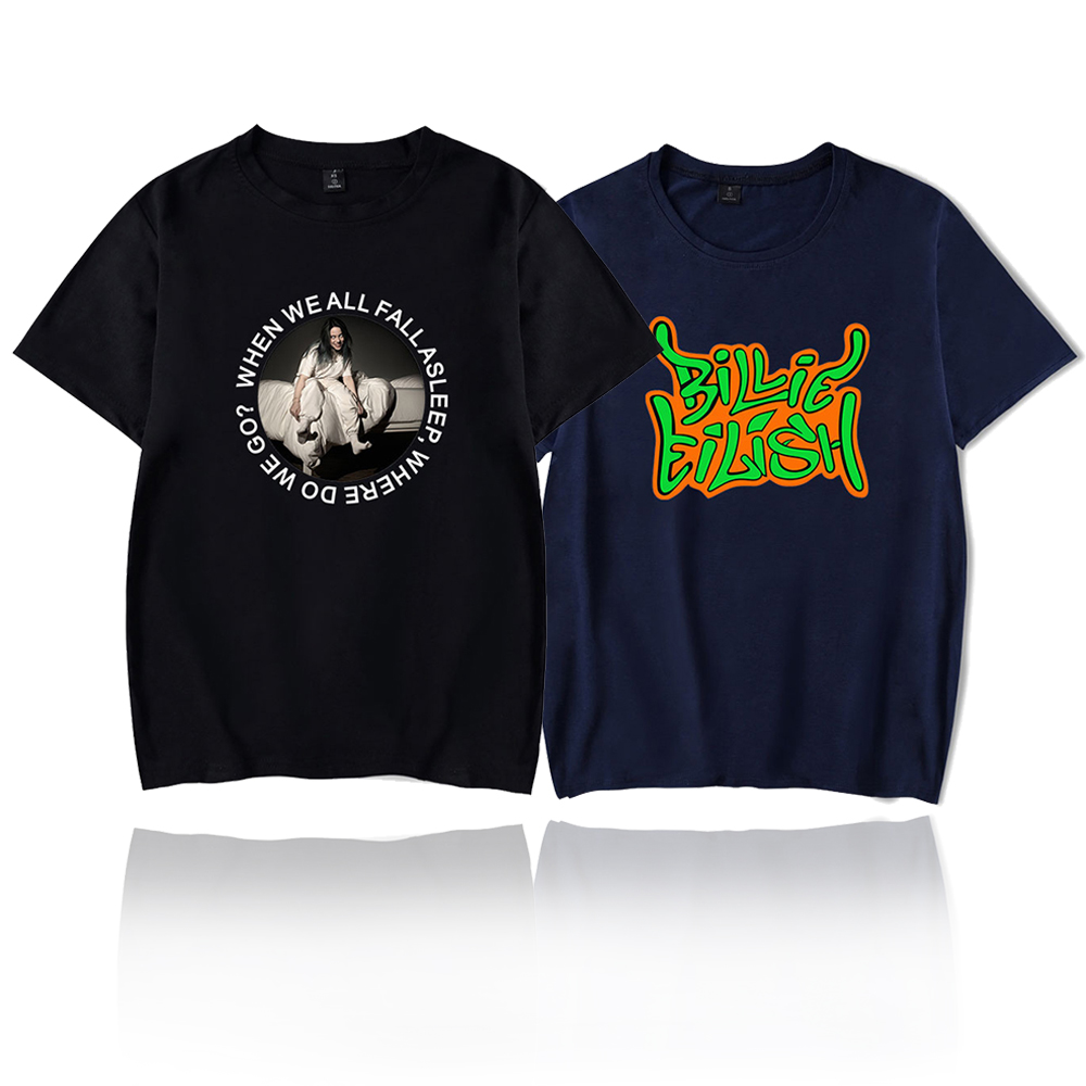 Billie Eilish T Shirt Harajuku Casual Women Short Sleeves Streetwear Hip Hop Mens T-shirt Cotton Soft Billie Eilish Tshirt