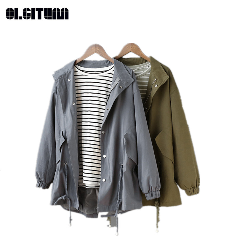 Autumn Women's   Trench   Coat Solid Retro Female Windbreaker New Design Ladies   Trench   Outwear TR099
