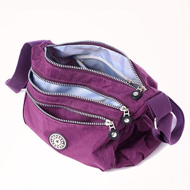 Fashion Women Shoulder Bag 2016 New Casual Nylon Bag Shoulder Messenger Multilayer Bags Women Bag Bolsos sac a main AC006