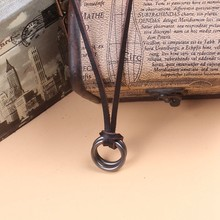 Vintage Punk Leather Cord Necklace