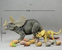 נדיר דינוזאור סימולציה דגם / צעצוע דינוזאור טריצרטופס שלד גדול ביצי דינוזאור נתוני פעילות וצעצוע