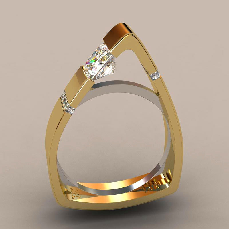 Cute Boho Small Crystal Zircon Stone Ring Luxury Fashion Yellow Gold Color Jewelry Promise Engagement Rings For And Women