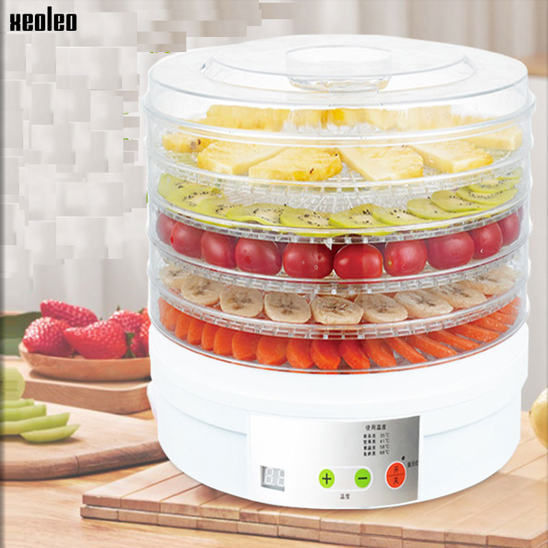 XEOLEO Fruit Drying Machine Food Dehydrator Food Dehydration Dryer Household 5 Layers White Fruit/Vegetable Dryer 15L 350W