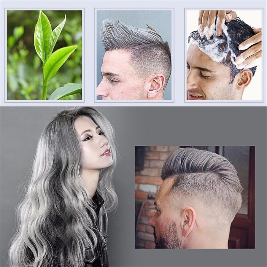 Mofajang Grey Hair Color Wax 120g Men And Women Does Not Hurt Silver