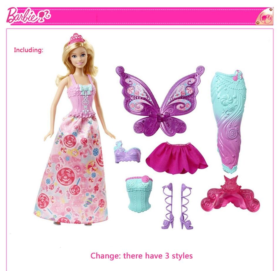 Original Barbie Fairytale Mermaid Dress Up Doll 6