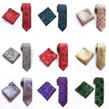 Модный галстук-платок для мужчин  набор из деловой сетки  галстук-жаккард Gravatas  галстуки 8см