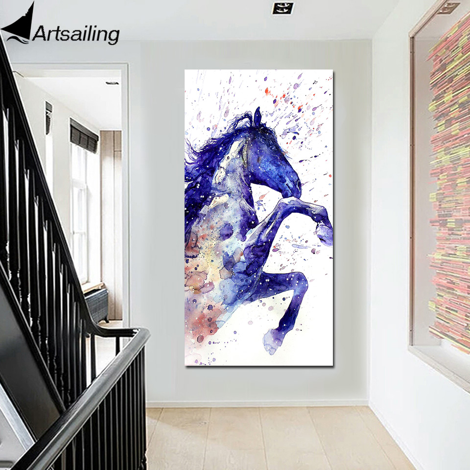 Modular Poster HD Prints Home Decor 1 Piece Horses Horse
