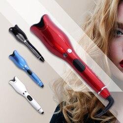 Automático curling ferro curler cabelo varinha onda 1 Polegada rotativa magia cabelo curling ferro salão de beleza ferramentas titânio rolos de cabelo automático