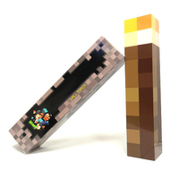 Free Shipping Light Up Minecraft Torch LED Hand Held Or Wall Mount For Kids Toys Birthday