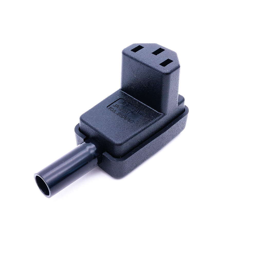 C13 Power Plug, 90 Degree Angled IEC 320 C13 Female Plug AC 10A / 250V Power Cord/Cable Connector 1pcs 125cc cbt125 carburetor motorcycle pd26jb cb125t cb250 twin cylinder accessories free shipping